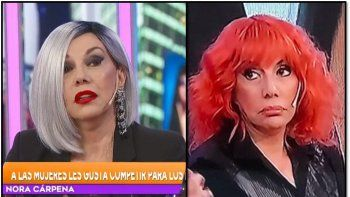 Los insólitos looks de Nora Cárpena