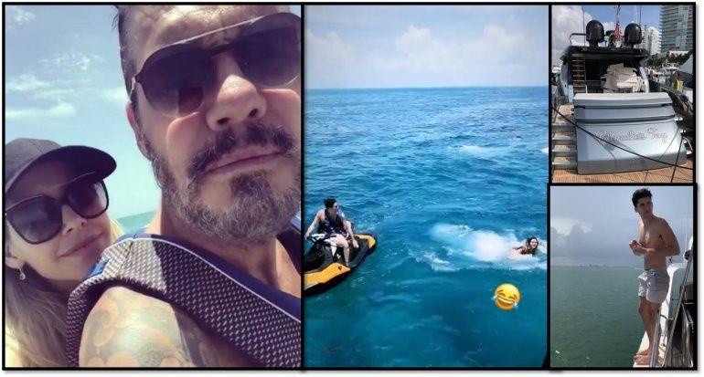 Las mega vacaciones de Tinelli, Guilermina Valdés y la familia en Miami: paseos en el mar y mucho amor