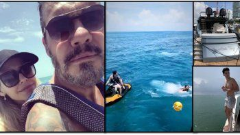 las mega vacaciones de tinelli, guilermina valdes y la familia en miami: paseos en el mar y mucho amor