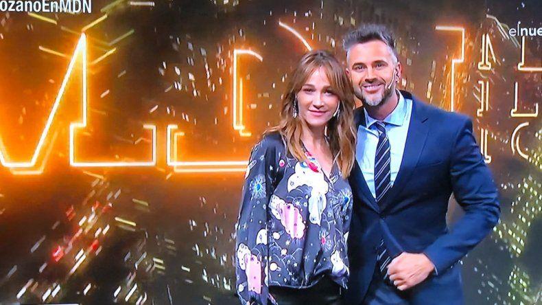 Así fue el reencuentro de Vero Lozano y Leo Montero en la tele, a tres años del final de AM