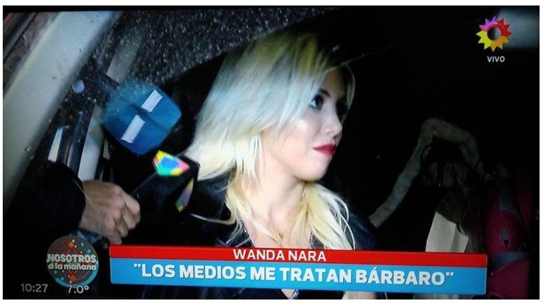 Irónica y relajada: así se mostró Wanda Nara con la prensa, luego del escándalo de hace unos días