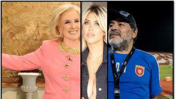 Mirtha contó que escuchó a Maradona y Wanda Nara teniendo sexo: No se podía dormir del ruido