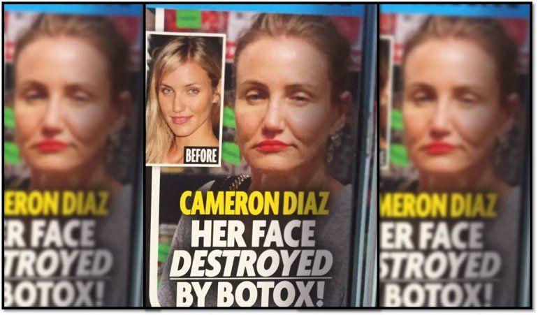 Cameron Díaz con la cara destrozada por el botox