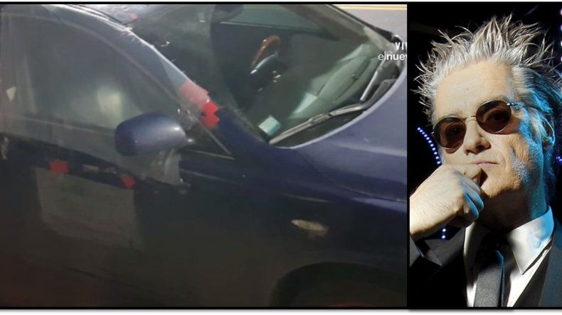¿Pettinato en la ruina?: las fotos de su auto abandonado y con un vidrio roto tapado con plástico