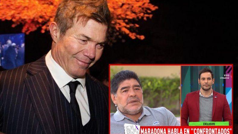 Burlando le contestó a Maradona: Cómo va a decir que tomé droga con él?; si es tan compadrito que me lo diga en la cara