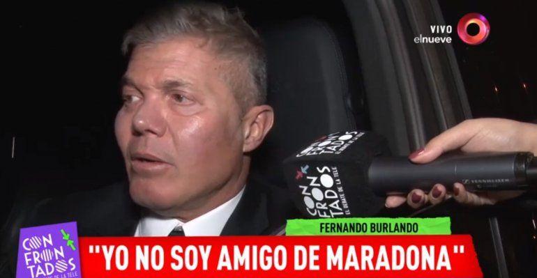 Burlando aclaró el episodio Ronaldinho y le respondió a Maradona