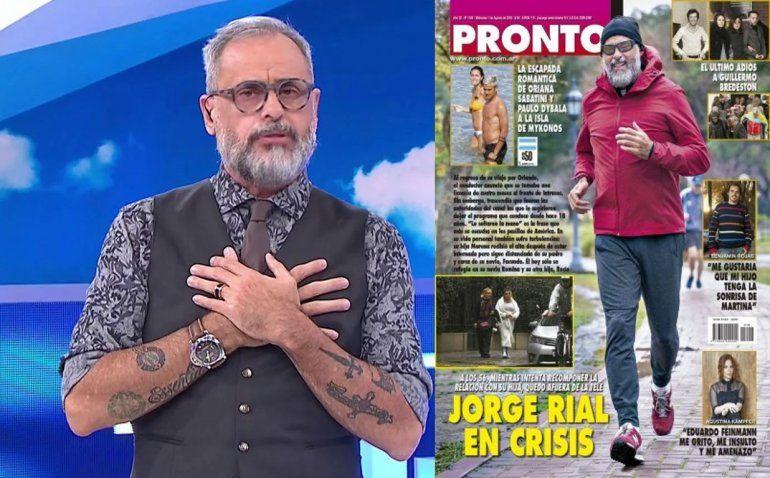 Jorge Rial le respondió a la revista Pronto: La verdad es que América no me soltó la mano