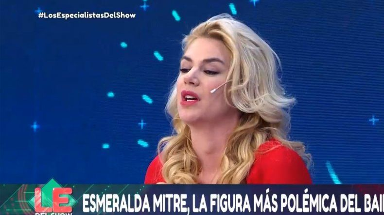 Esmeralda Mitre más mediática que nunca: fue a Los Especialistas y se peleó con todos
