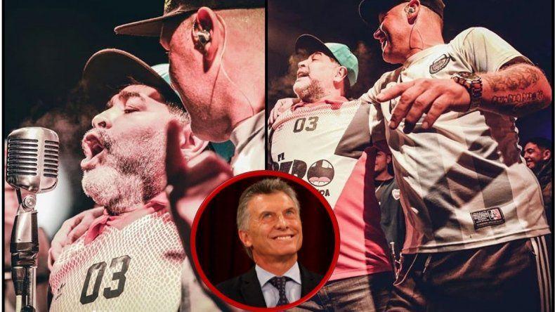 Maradona aprovechó los cánticos de El Pepo para insultar a Macri