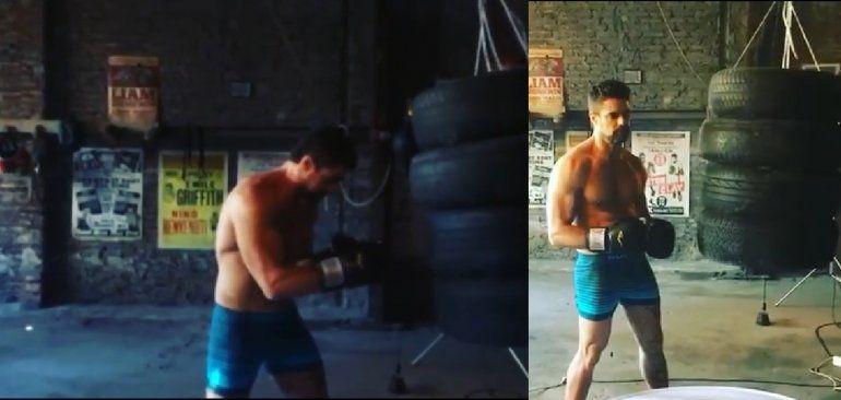 Más sexy que nunca, Luciano Castro subió un video boxeando en ropa interior