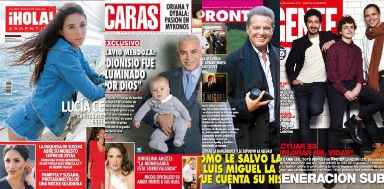 Tapas de las revistas de la semana: galanes, herederos y Luis Miguel con cara de cera