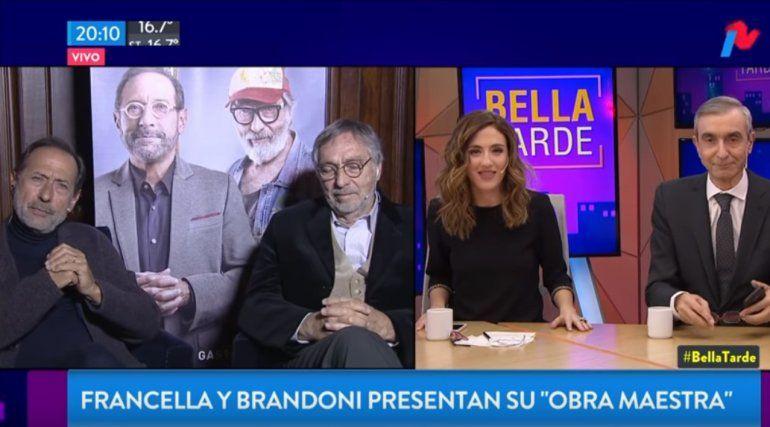 Francella se hartó de las preguntas sobre actualidad y le paró el carro al aire a Nelson Castro