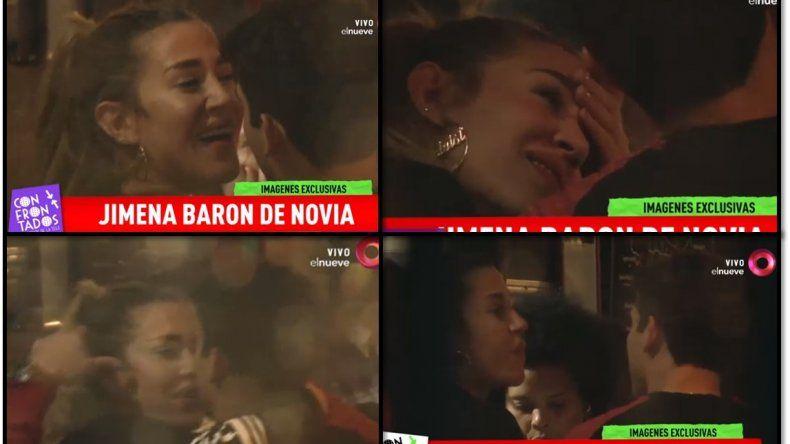 Las imágenes de mimos y besos íntimos entre Jimena Barón y su nuevo novio en un restaurante