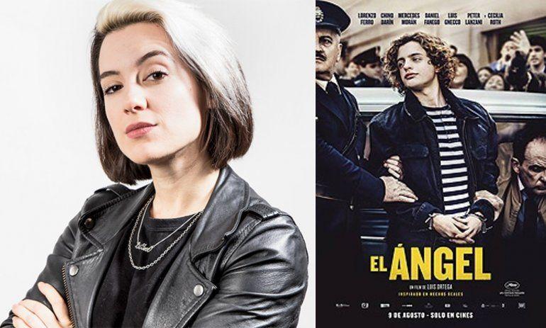 Malena Pichot vs. la peli El Ángel: Una película de un asesino y violador con afiche que parece publicidad de perfume con un chonguito adorable
