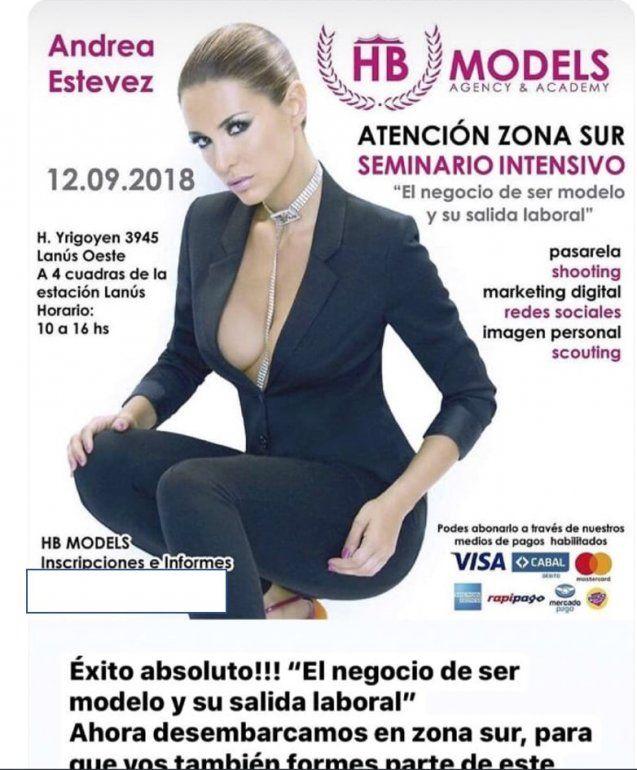 Separada y buscando el mango, de vuelta en Buenos Aires, Andrea Estévez anuncia un curso para ser modelo en zona sur