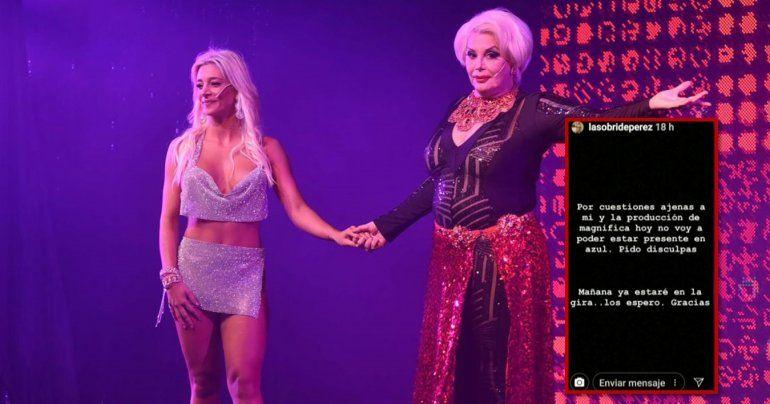 Tensión entre Carmen Barbieri y Sol Pérez: la bailarina no llegó a la función del viernes