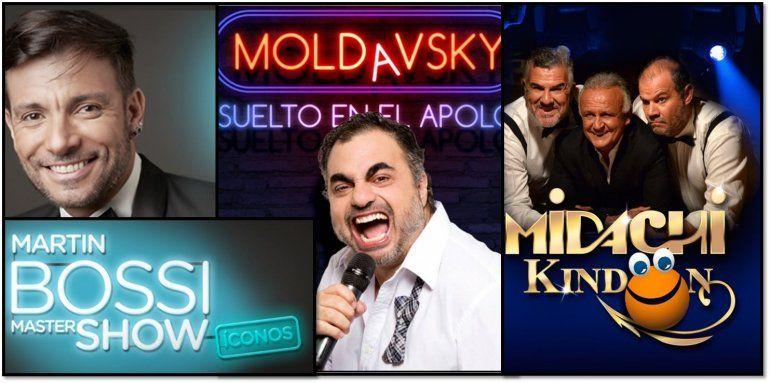 Bossi, Moldasky y Midachi lideraron la taquilla teatral porteña