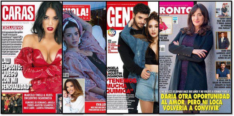 Las tapas de la semana: Lali Espósito habla de sexo; y el romance de Ángela Torres con Agustín Casanova
