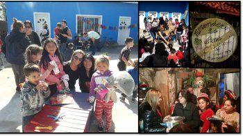 Natalia Denegri está en la Argentina y aprovechó su viaje para visitar un merendero