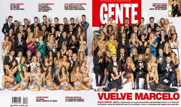 Tinelli arranca el lunes y salió la tapa con todos los famosos que harán el Bailando por un sueño