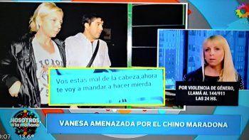 La ex mujer del Chino Maradona lo acusa por amenazas: Estás mal de la cabeza