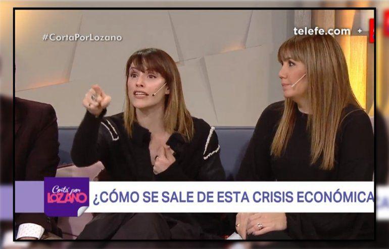 Connie Ansaldi furiosa, feroz cruce en Cortá por Lozano por la economía del país