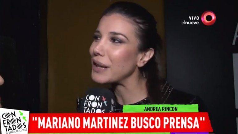 Andrea Rincón salió en defensa de Julieta Ortega por la denuncia de Mariano Martínez: Él hizo prensa con eso