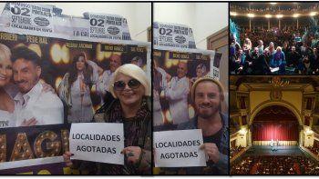 Carmen Barbieri y Fede Bal colgaron el cartel de no hay más localidades
