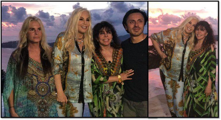 Susana Giménez y Verónica Castro, juntas en Acapulco, grabaron el especial para Telefe