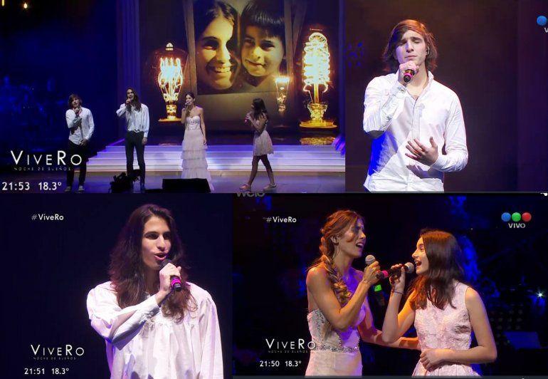Azul, Valentín y Franco: los hijos de Romina Yan fueron los grandes protagonistas de ViveRo