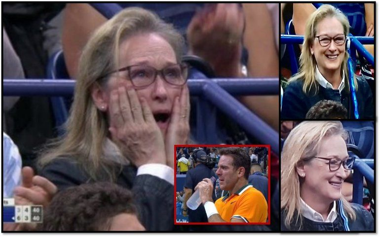 Meryl Streep, la fanática más famosa de Juan Martín del Potro