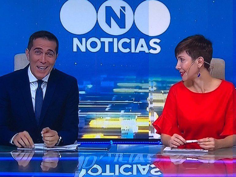 Barili volvió al noticiero de Telefe y Cristina Pérez lo beboteó al aire: Lo extrañé; ¿hay amor?