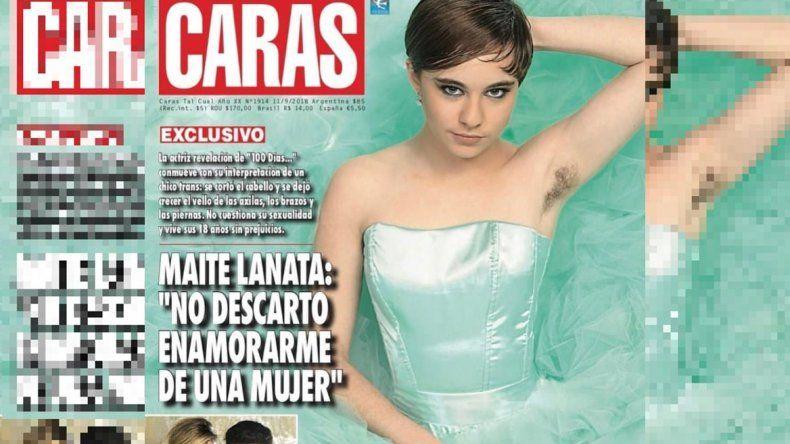 Polémica tapa de Caras con Maite Lanata, mostrando vello en su axila: No descarto enamorarme de una mujer