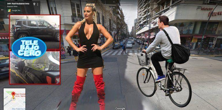 Otro escándalo de tránsito con Sol Pérez: un ciclista la atacó con un palo por tapar la bicisenda