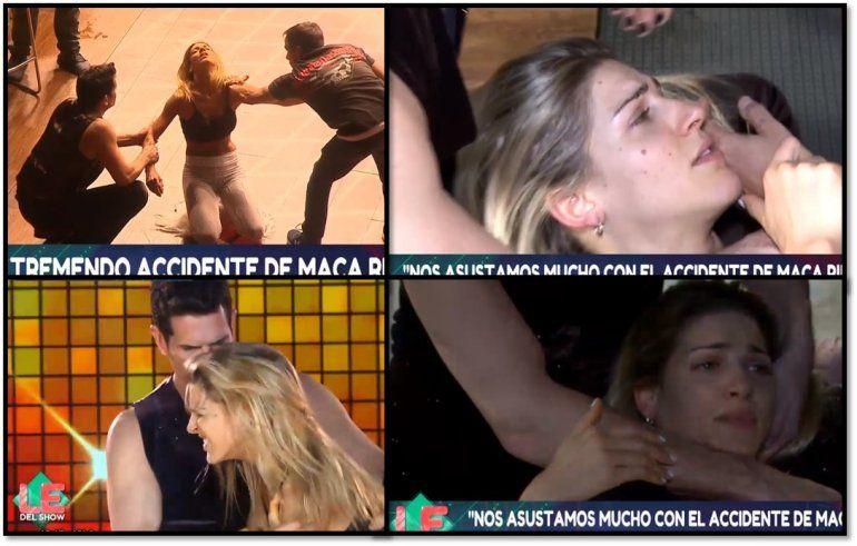 Los Especialistas del Show casi de luto porque Macarena Rinaldi se lesionó el hombro