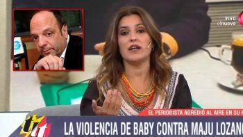 Maju Lozano le respondió fuerte a Baby Etchecopar: Sos un cerdo