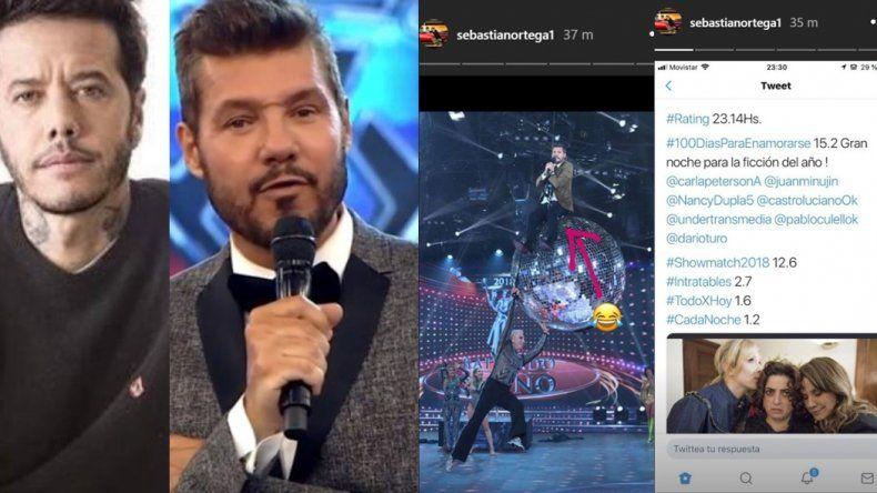 Sebastián Ortega le moja la oreja a Tinelli: muestra cómo le ganó en el rating y se ríe de él por una foto