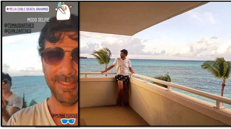 Darthés, después de Simona y de la denuncia de Calu Rivero, de vacaciones en Bahamas