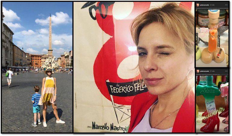 Carla Peterson en Roma: vacaciones en familia y un viaje para su personaje de 100 días para enamorarse