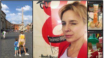 carla peterson en roma: vacaciones en familia y un viaje para su personaje de 100 dias para enamorarse