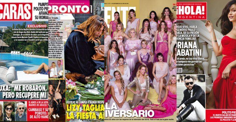 Revistas: los dramas de Xuxa y Lizy Tagliani; la gala de Gente y Oriana deja todo por amor