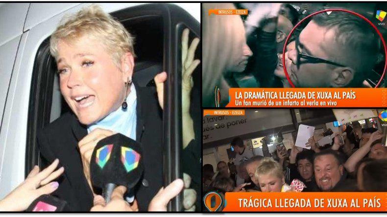 La trágica muerte de un fan de Xuxa: imágenes de la caótica llegada