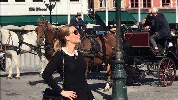 Natalia Denegri de vacaciones en Europa