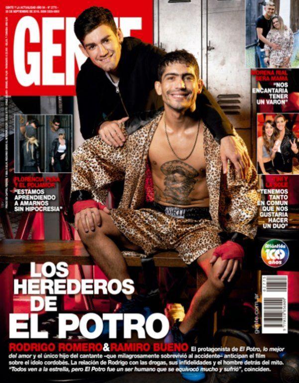 Los herederos de Rodrigo: el actor que lo interpreta y su hijo, juntos en una tapa