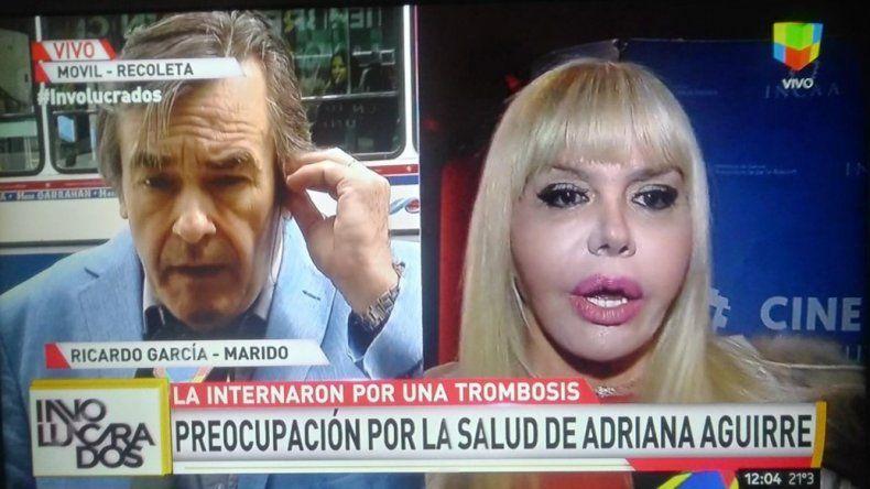 Internaron de urgencia a Adriana Aguirre por una trombosis