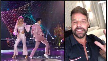 Ricky Martín le mandó un mensaje a Fandiño: Entrégate al ridículo y seguí bailando