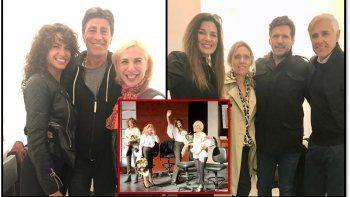Andrea Frigerio y Florencia Raggi estrenaron con sus maridos