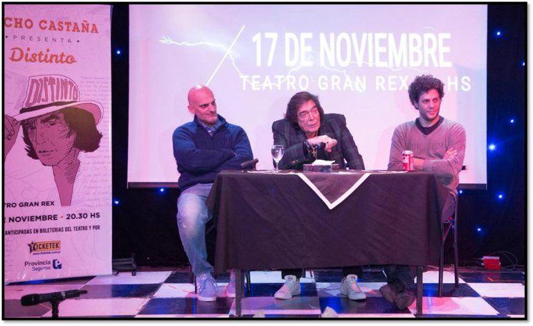 DISTINTO el nuevo trabajo de Cacho Castaña en el que interpreta temas de Serrat, Charly García, Virus, La Renga, y Sabina