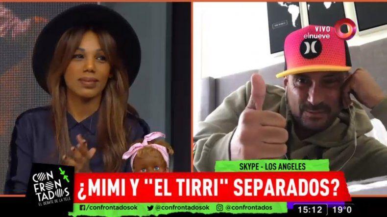 Reaparició El Tirri después de vivir un año en EEUU; móvil con Mimi y la pregunta:¿están separados?