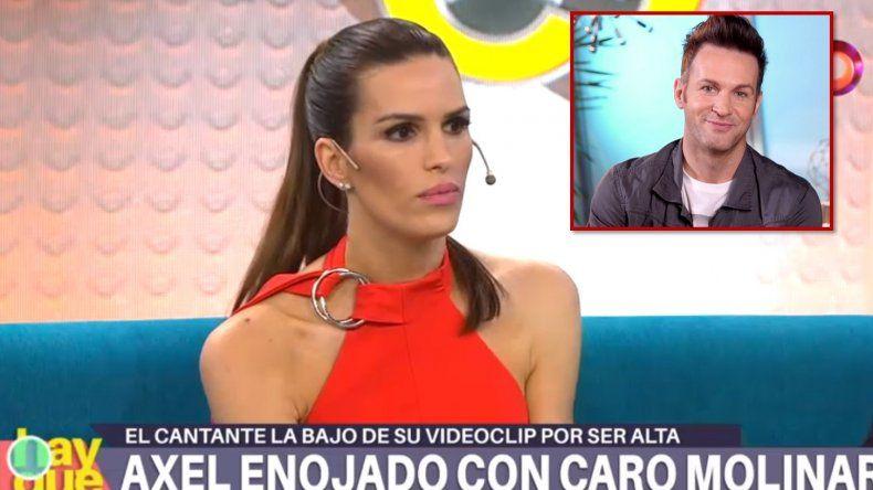 Carolina Molinari continúa su guerra con Axel: El tema lo fogonea él a partir que twittea y permite que sus fans me acosen